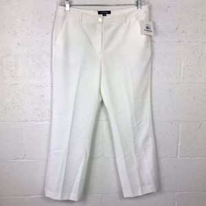 NWT Ellen Tracy Off White Trousers Pants, Size: 12